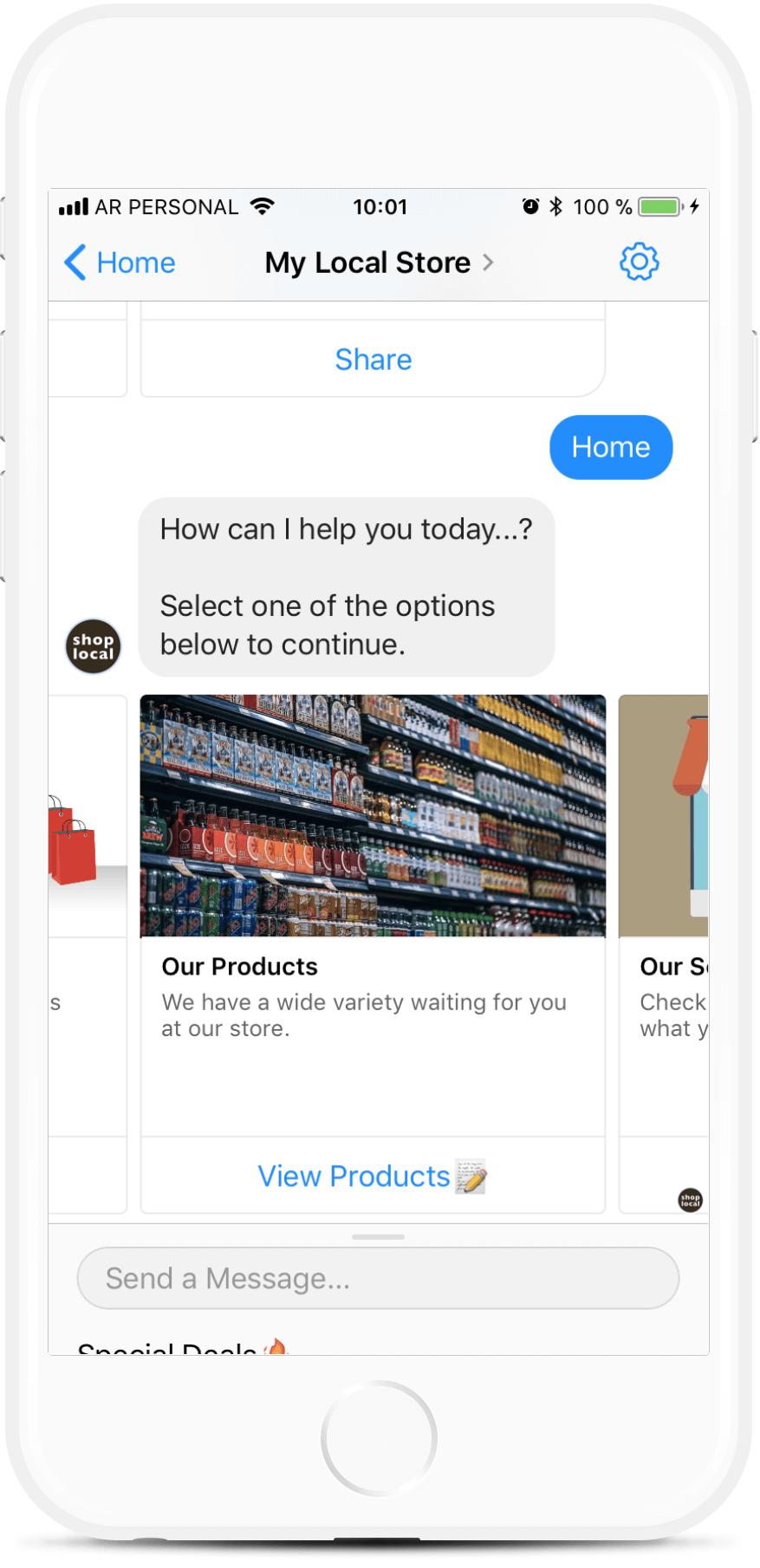 My Local Store bot screenshot