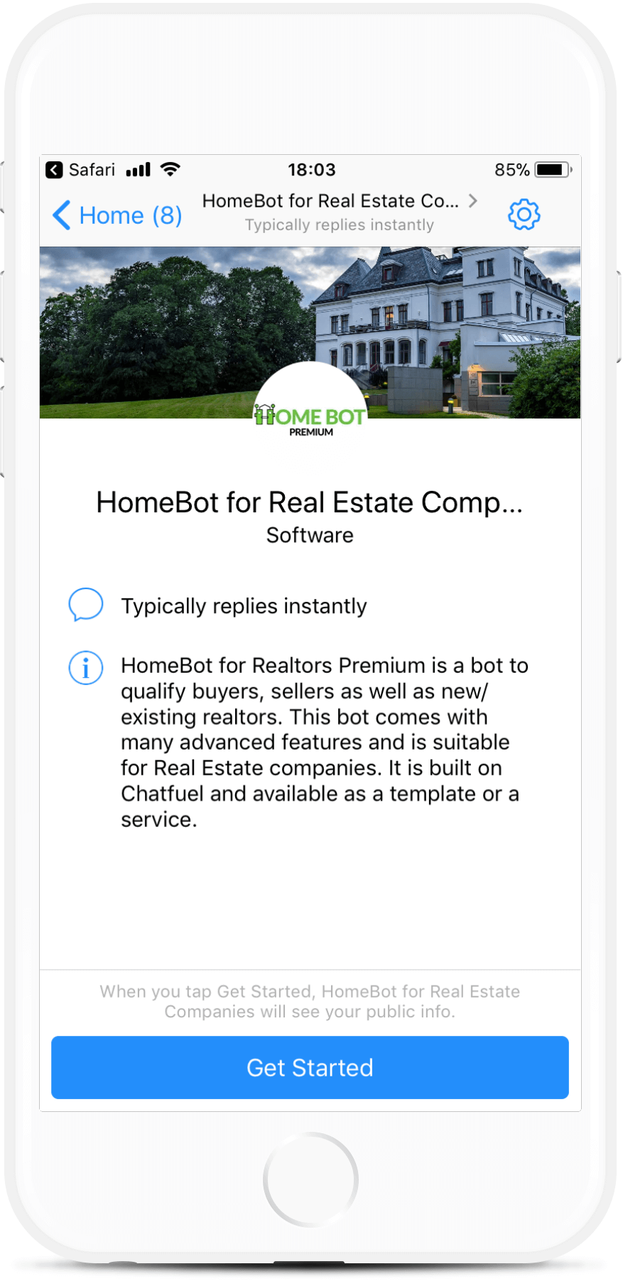 HomeBot for Realtors - Premium bot screenshot