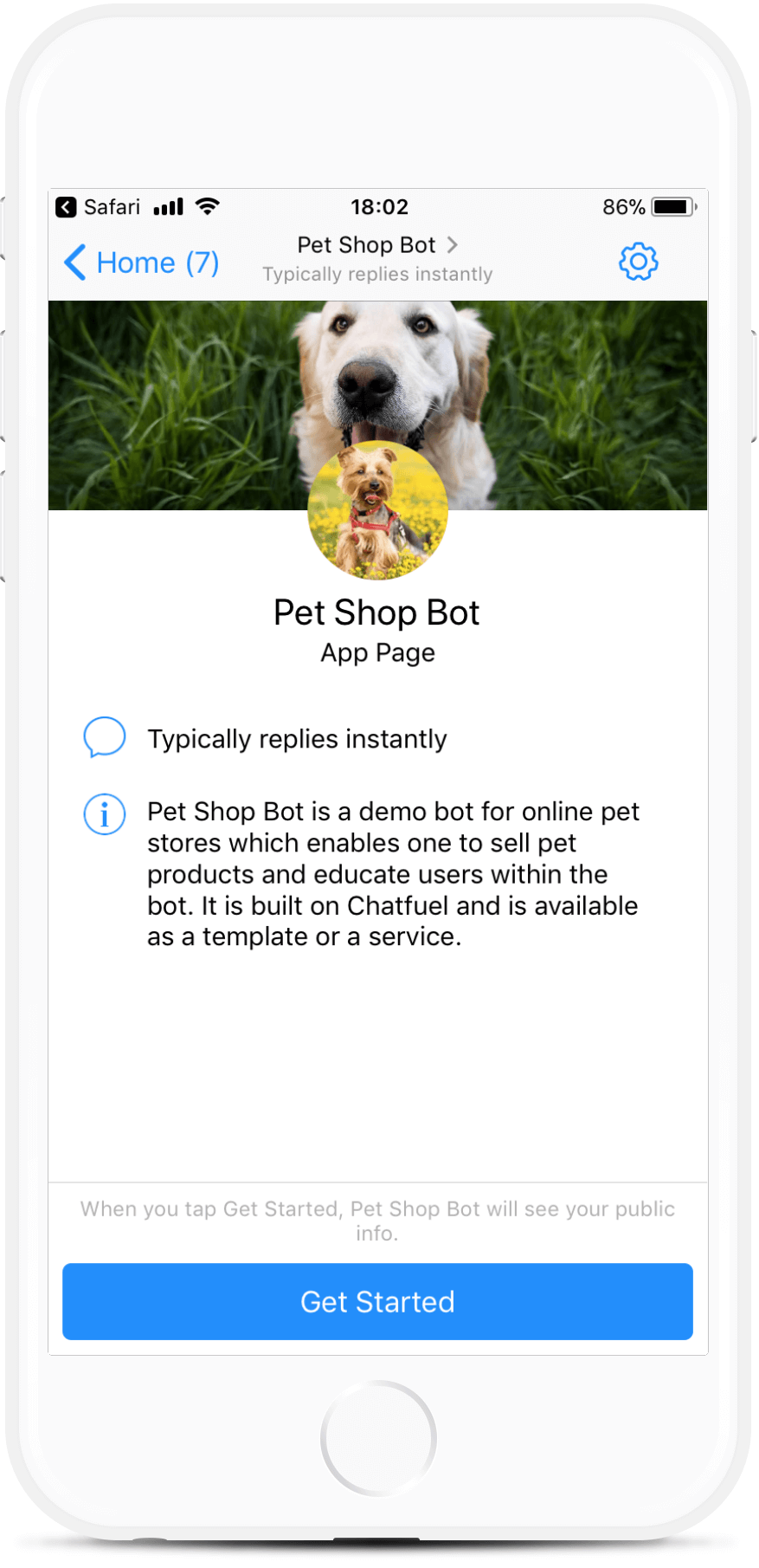Pet Shop Bot bot screenshot
