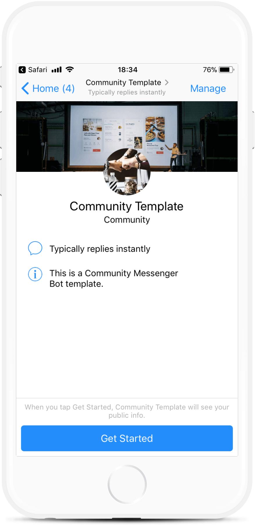Community Template bot screenshot