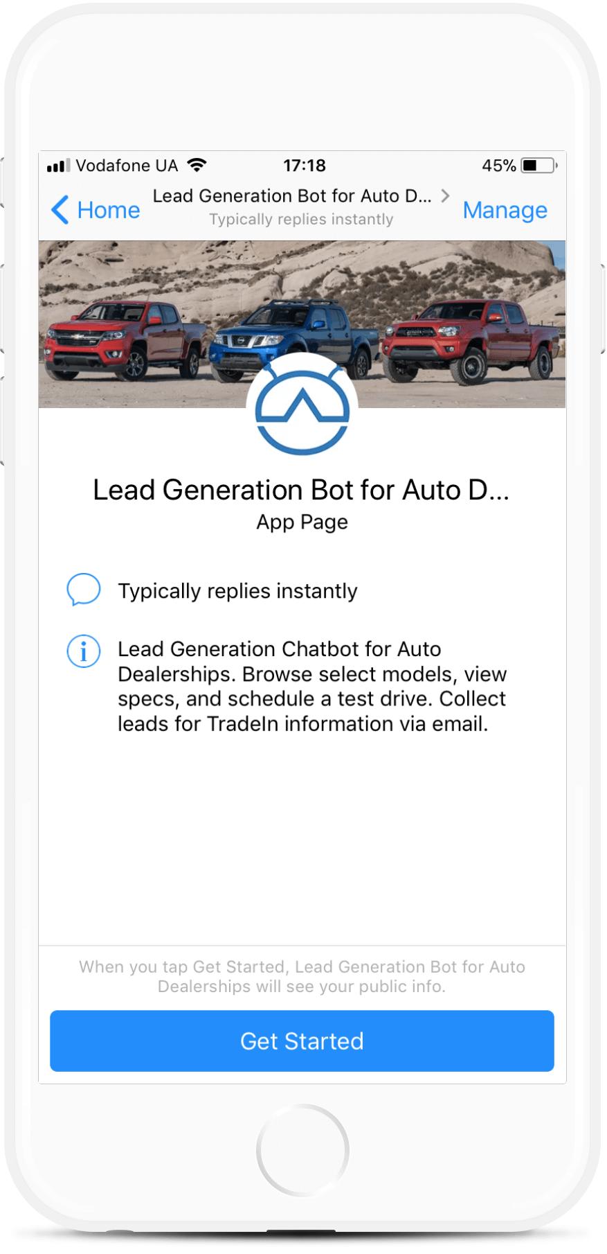 Car Dealership Demo bot screenshot