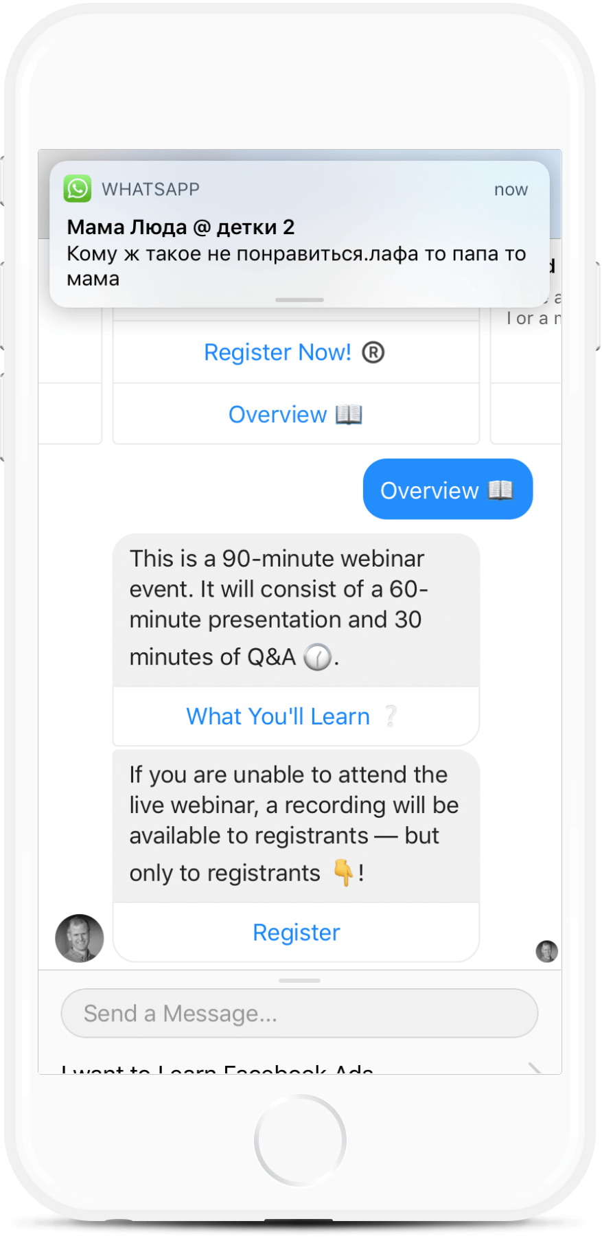 Lead Generation Bot Template for Facebook Marketing Coaches for $59