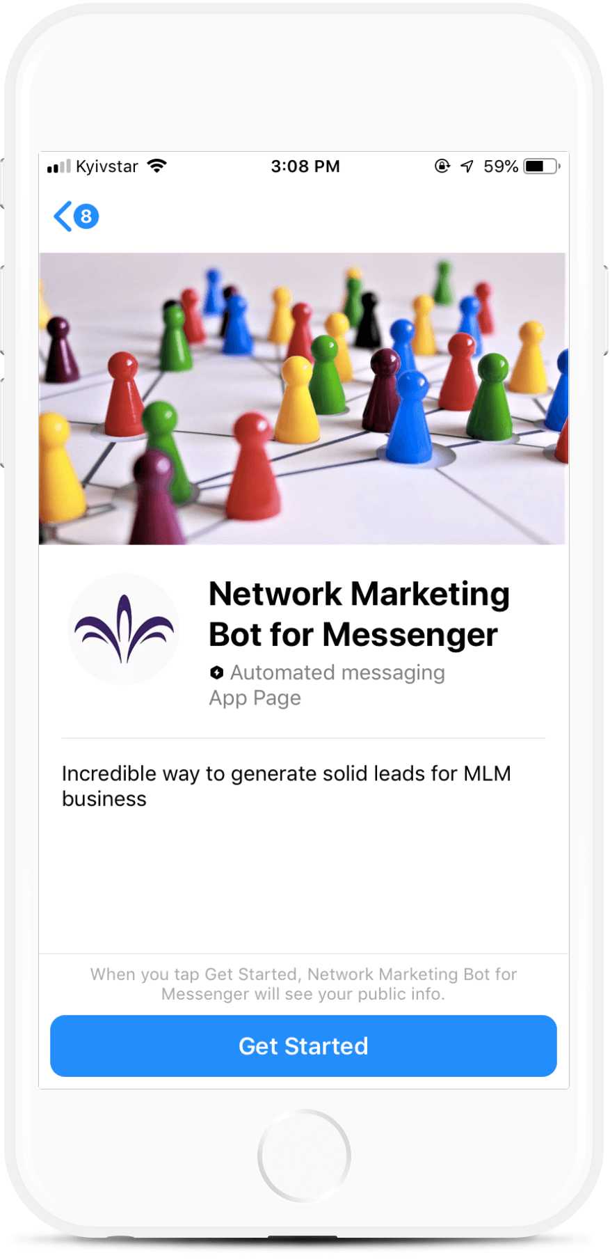 Network Marketing Bot for Messenger