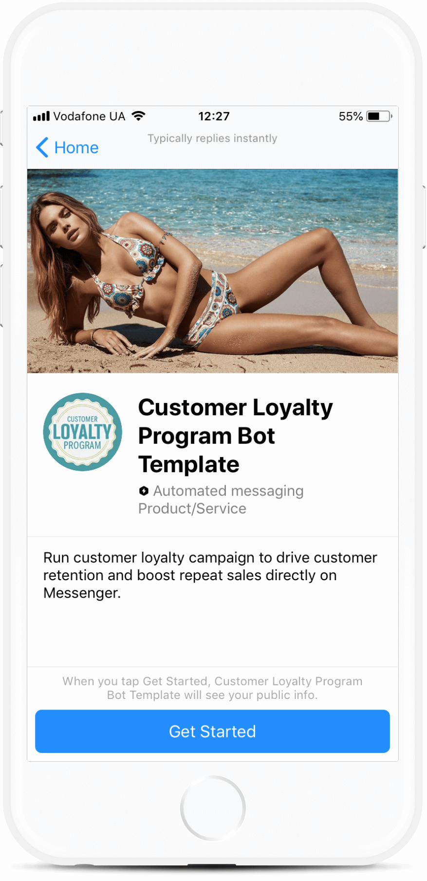 Loyalty Program Chatbot Template for Messenger