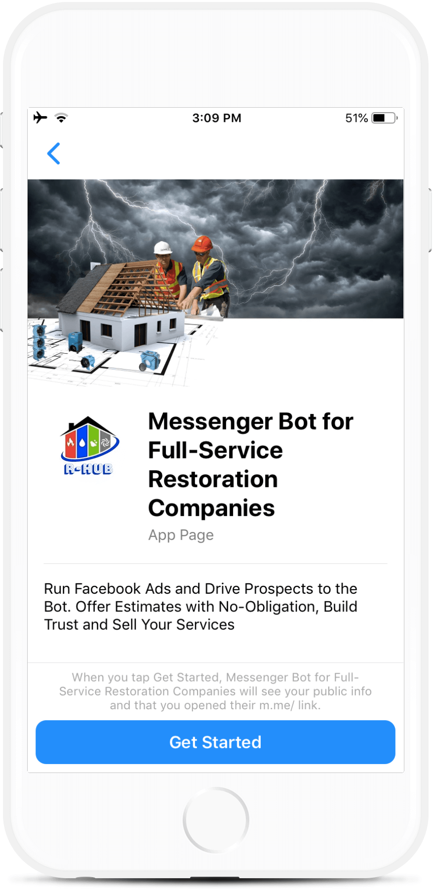 Messenger Bot for Full-Service Restoration Companies