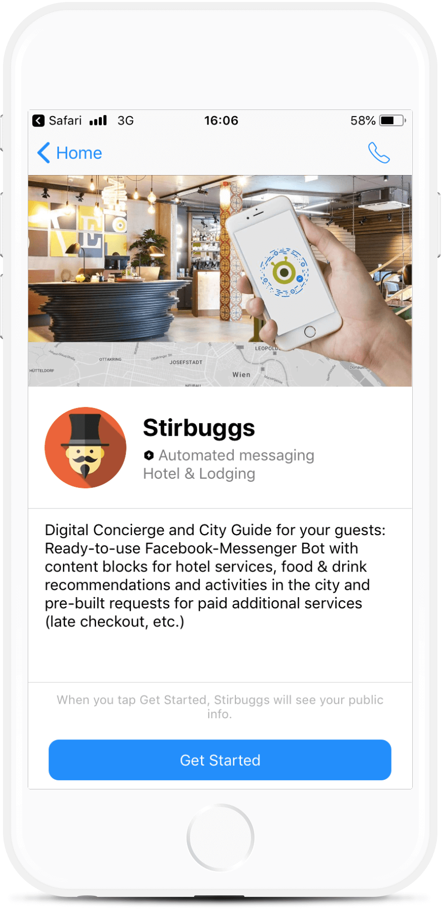 Messenger Bot for Hotels, Hostels and BnBs