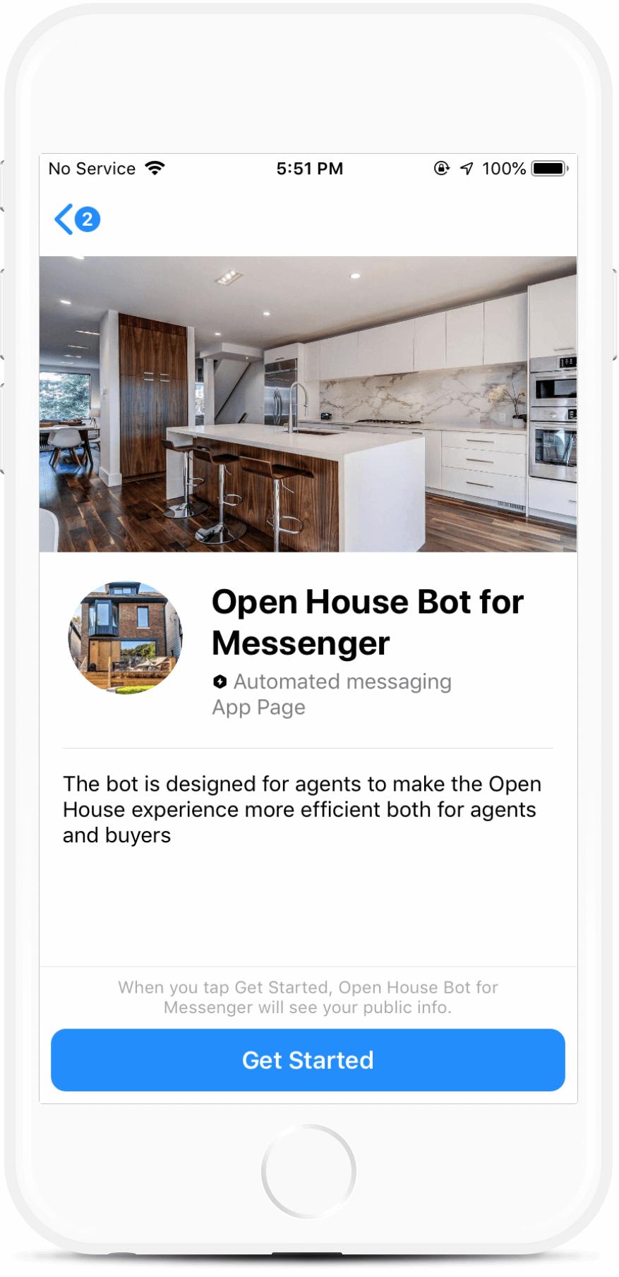 Casa Aberta Robô para Agentes Imobiliários