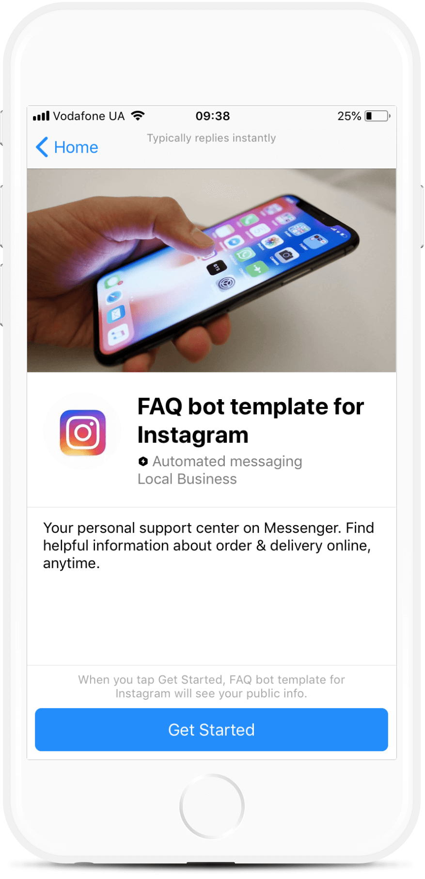 Instagram FAQ Bot For Messenger