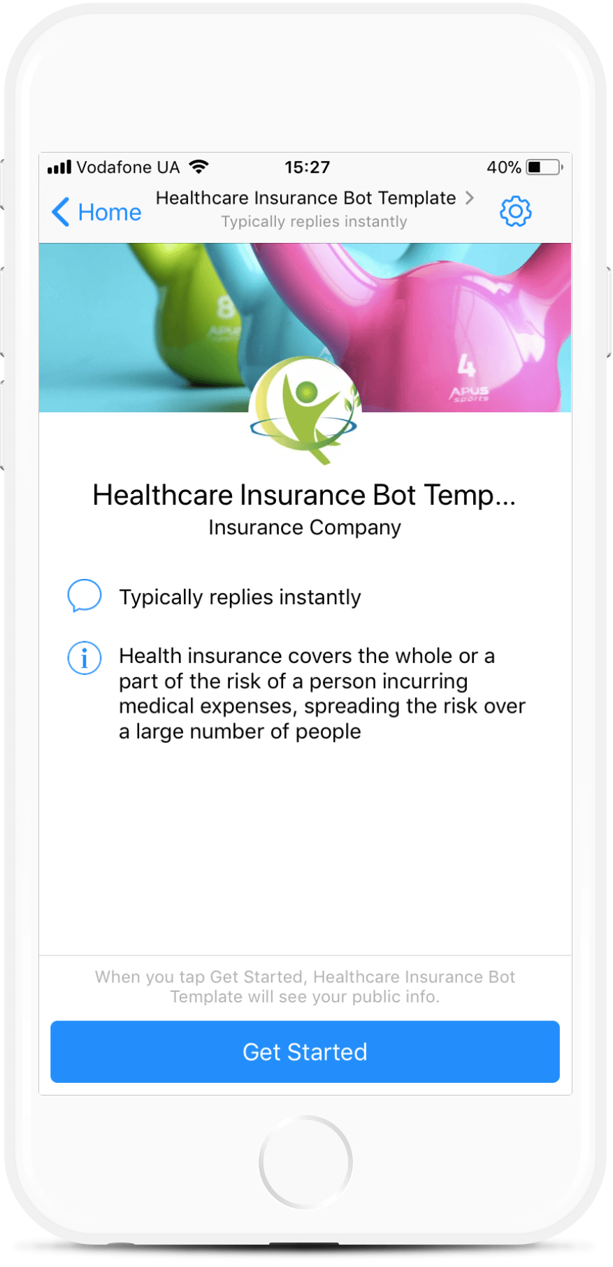 Personal Assistant Bot Template for Health Insurance Companies