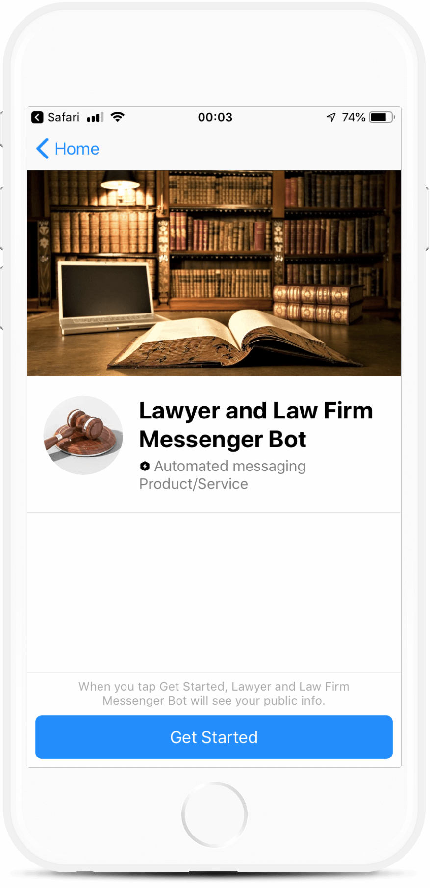 ManyChat Messenger Bot for Lawyers and Law Firms