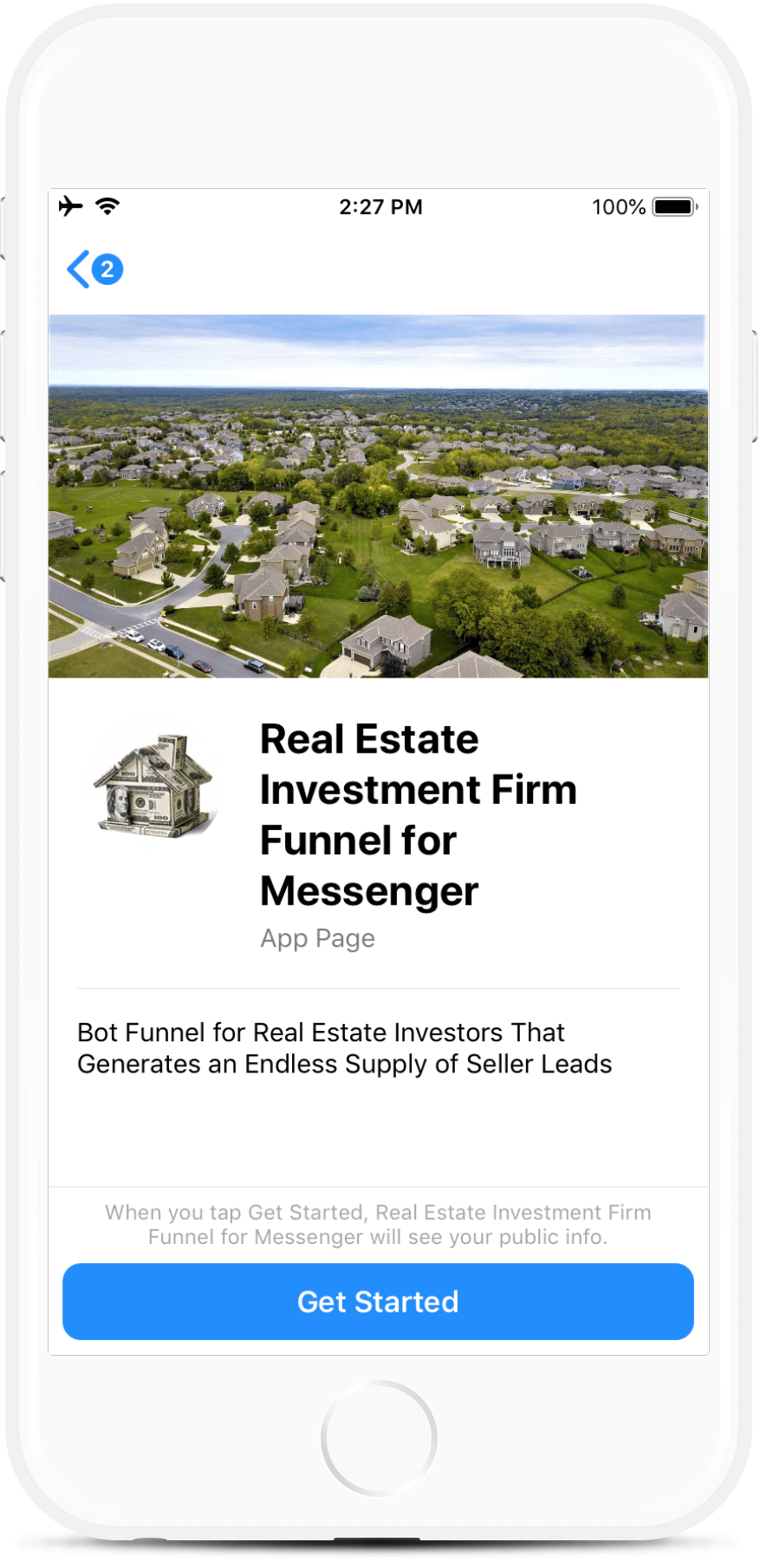 Real Estate Investor Funnel for Messenger
