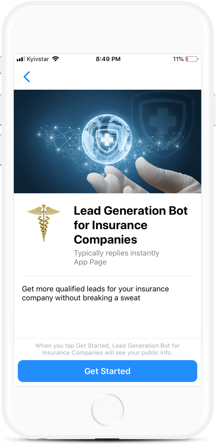 Health Insurance Company bot screenshot
