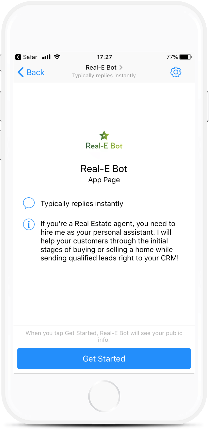 Real-E Template for Real Estate Agents