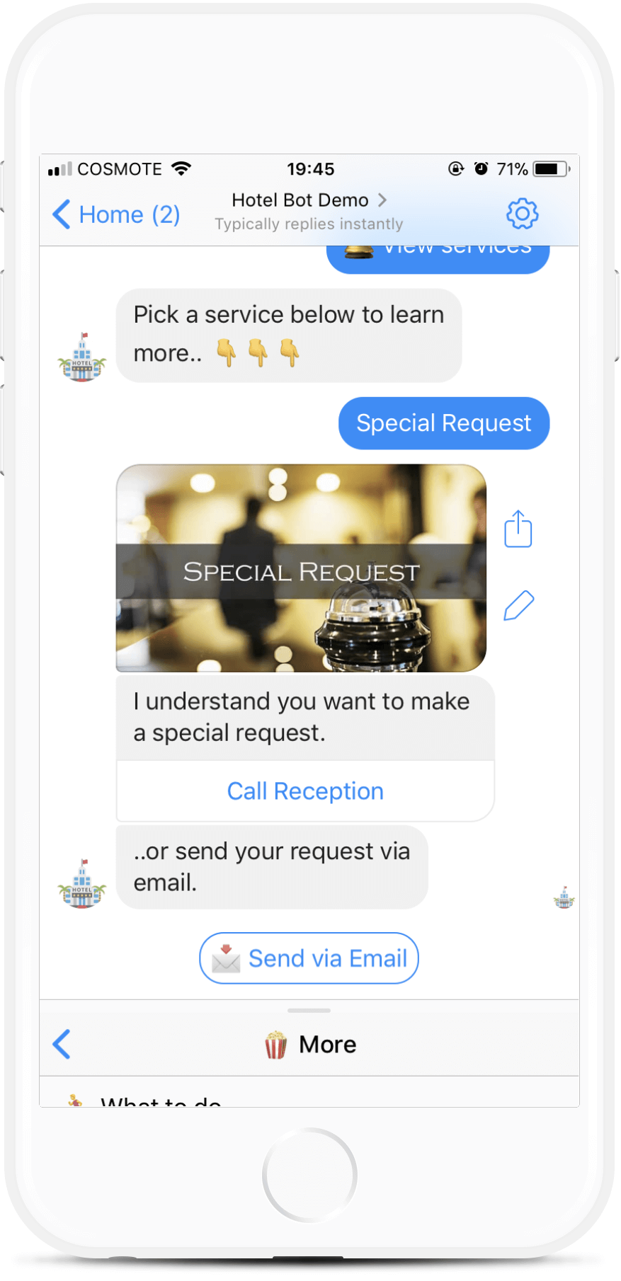 Booking Bot Template for Hotels for $97   #messenger #bottemplates #bots #chatbots #aibots #fbmessenger #botmakers