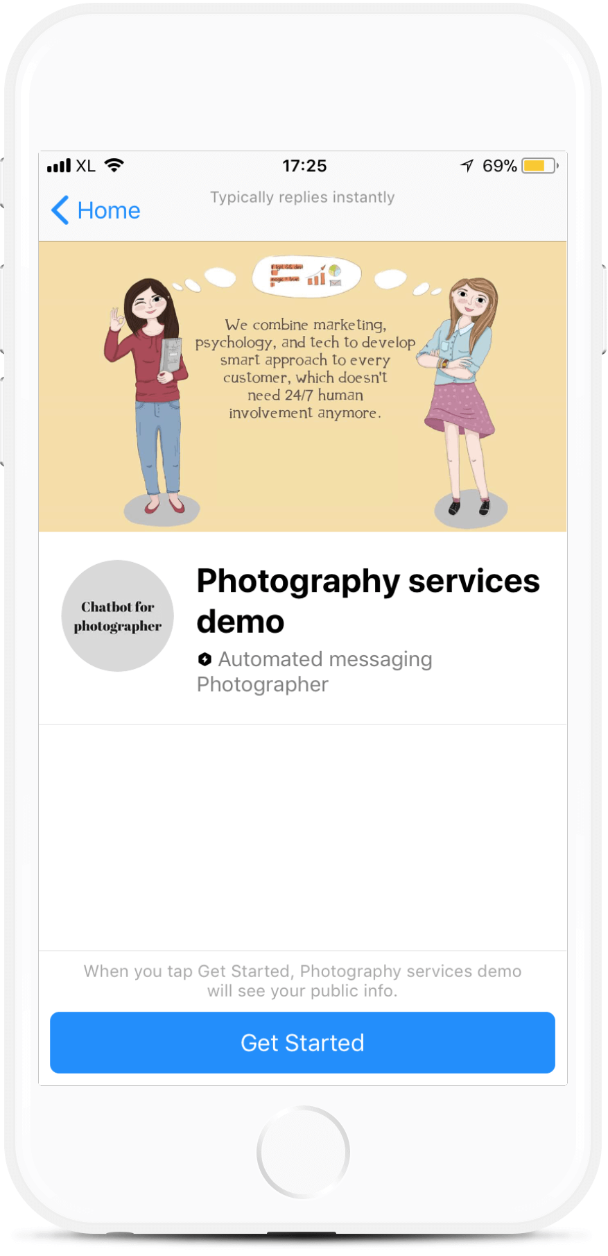 Chatbot Template for Photographer