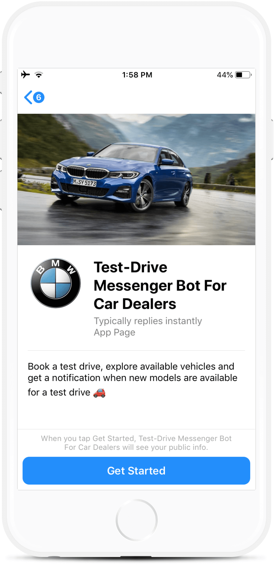 Test-Drive Messenger Bot for Car Dealers