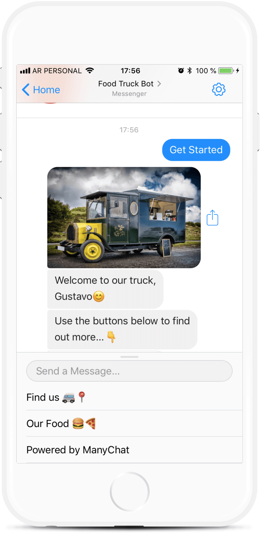 Food Truck Chatbot Template for $69   #messenger #bottemplates #bots #chatbots #aibots #fbmessenger #botmakers
