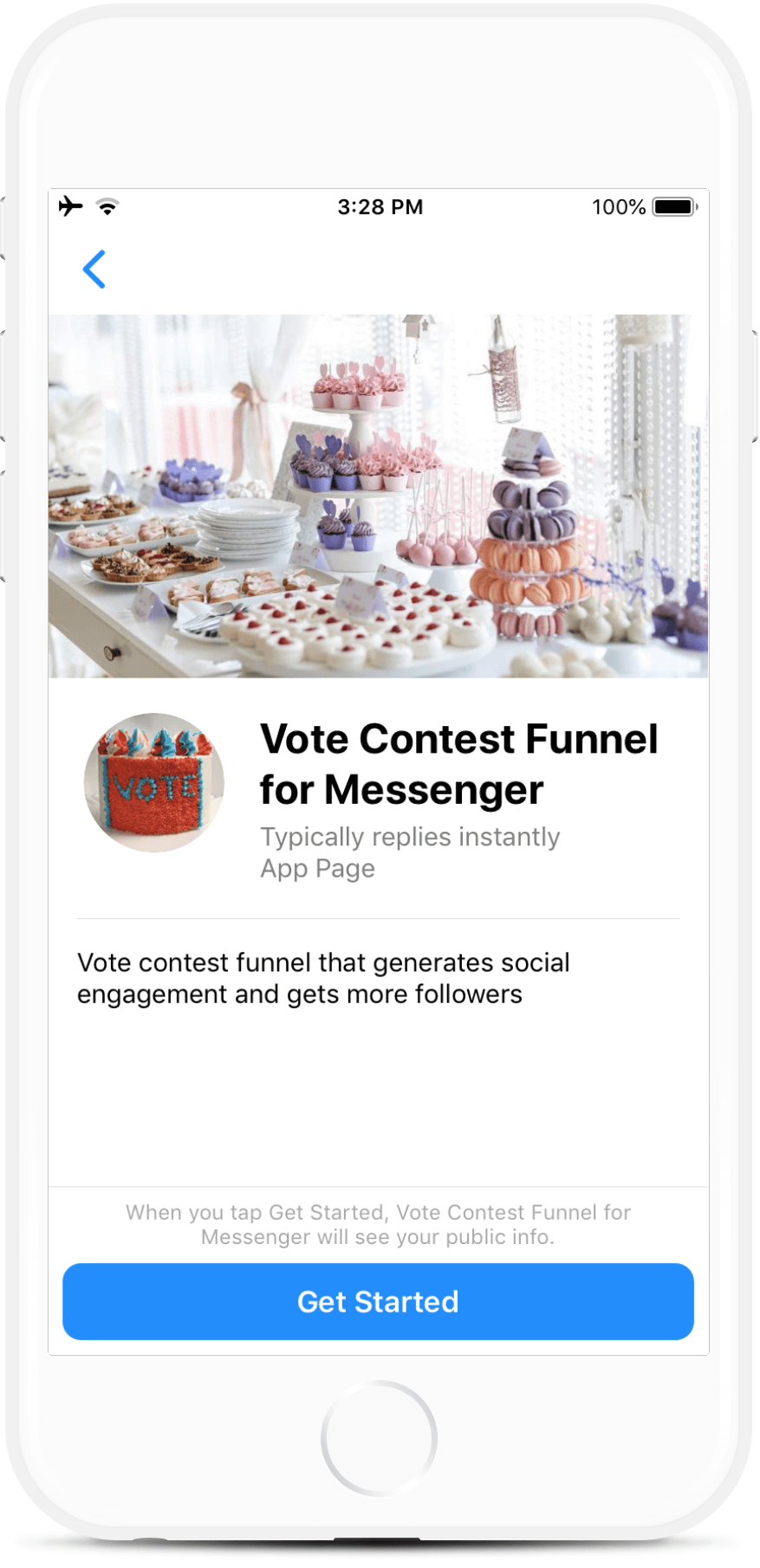 Vote Contest Funnel for Facebook Messenger
