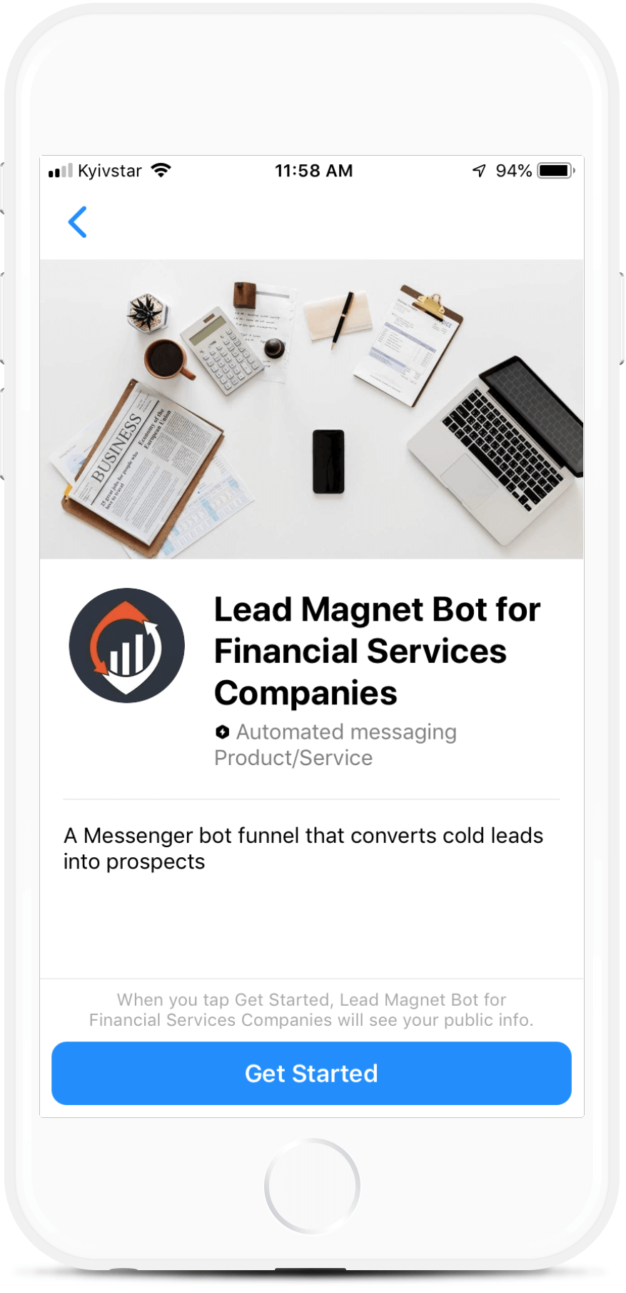 Full-Service Accounting Firm Lead Generation bot screenshot