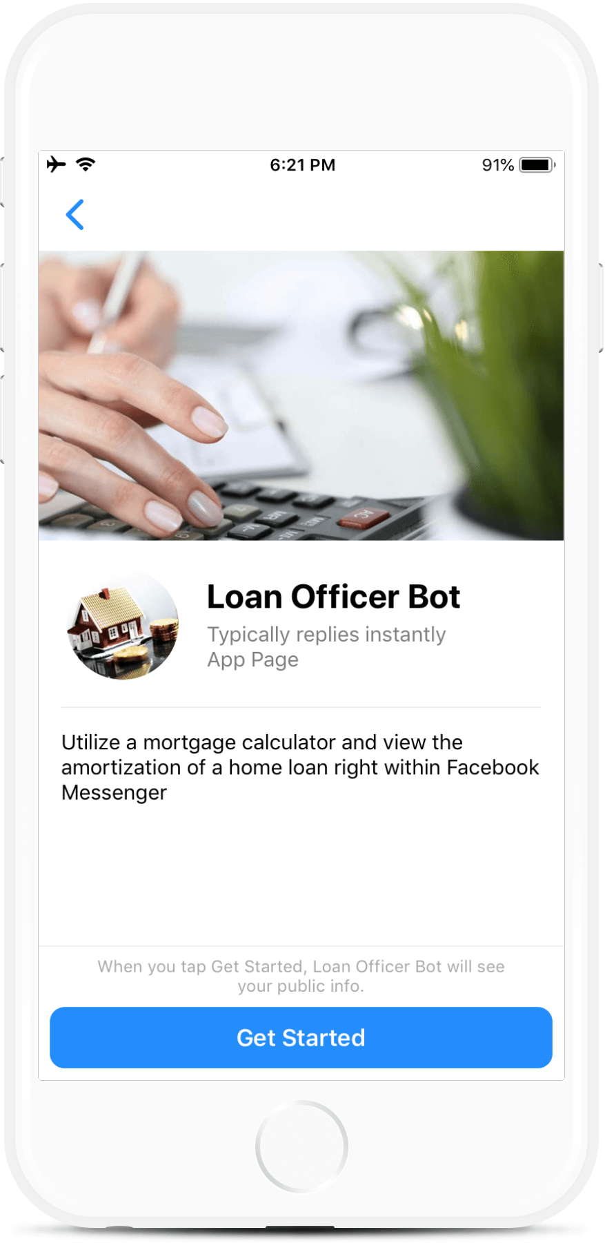Loan Calculator Bot for Messenger