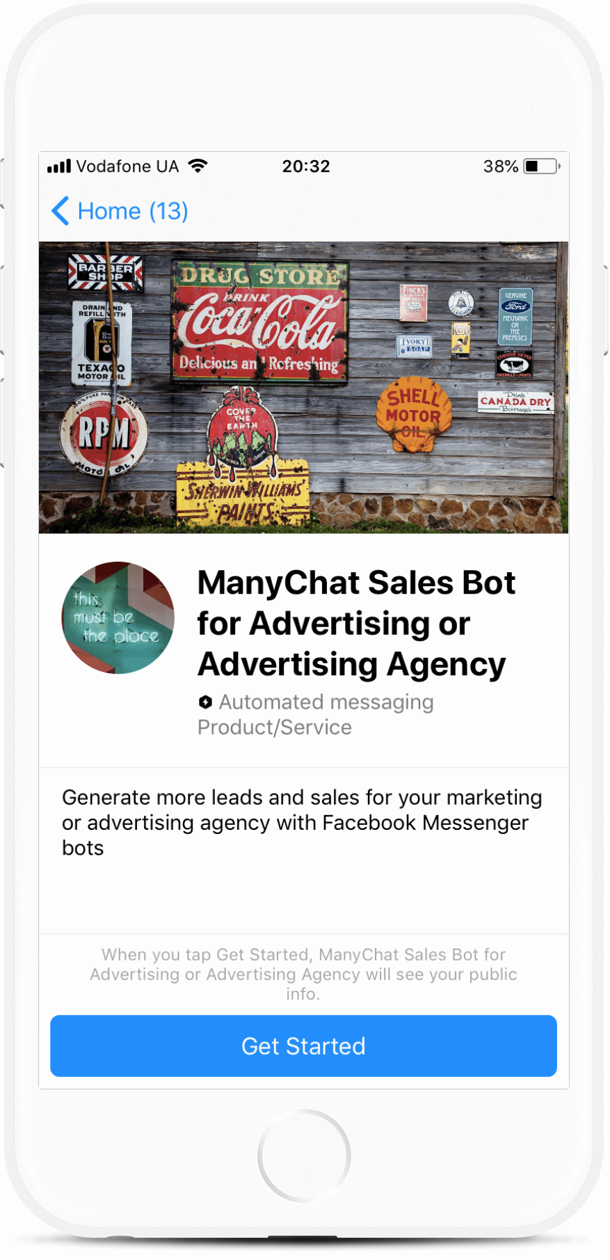 Messenger Marketing Agency Funnel for Messenger (Beta)