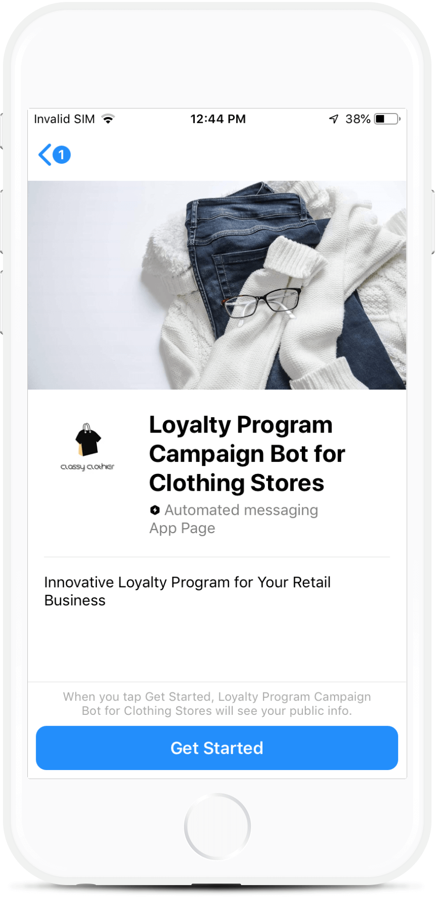 Loyalty Rewards Program Campaign Bot for Clothing Stores