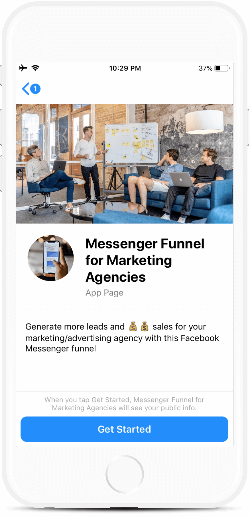 Messenger Marketing Agency Funnel for Messenger
