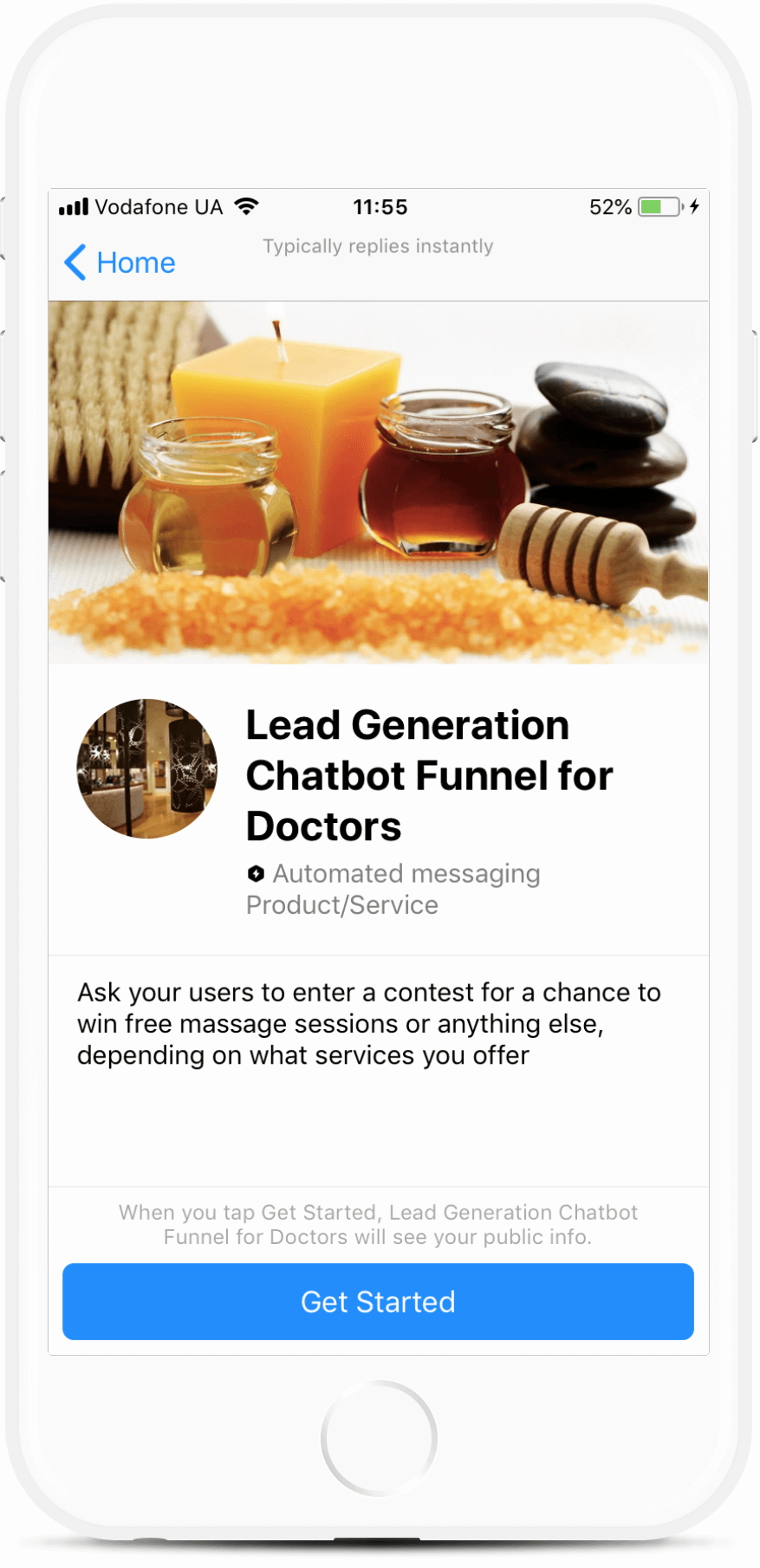 Lead Generation Chatbot Funnel for Doctors