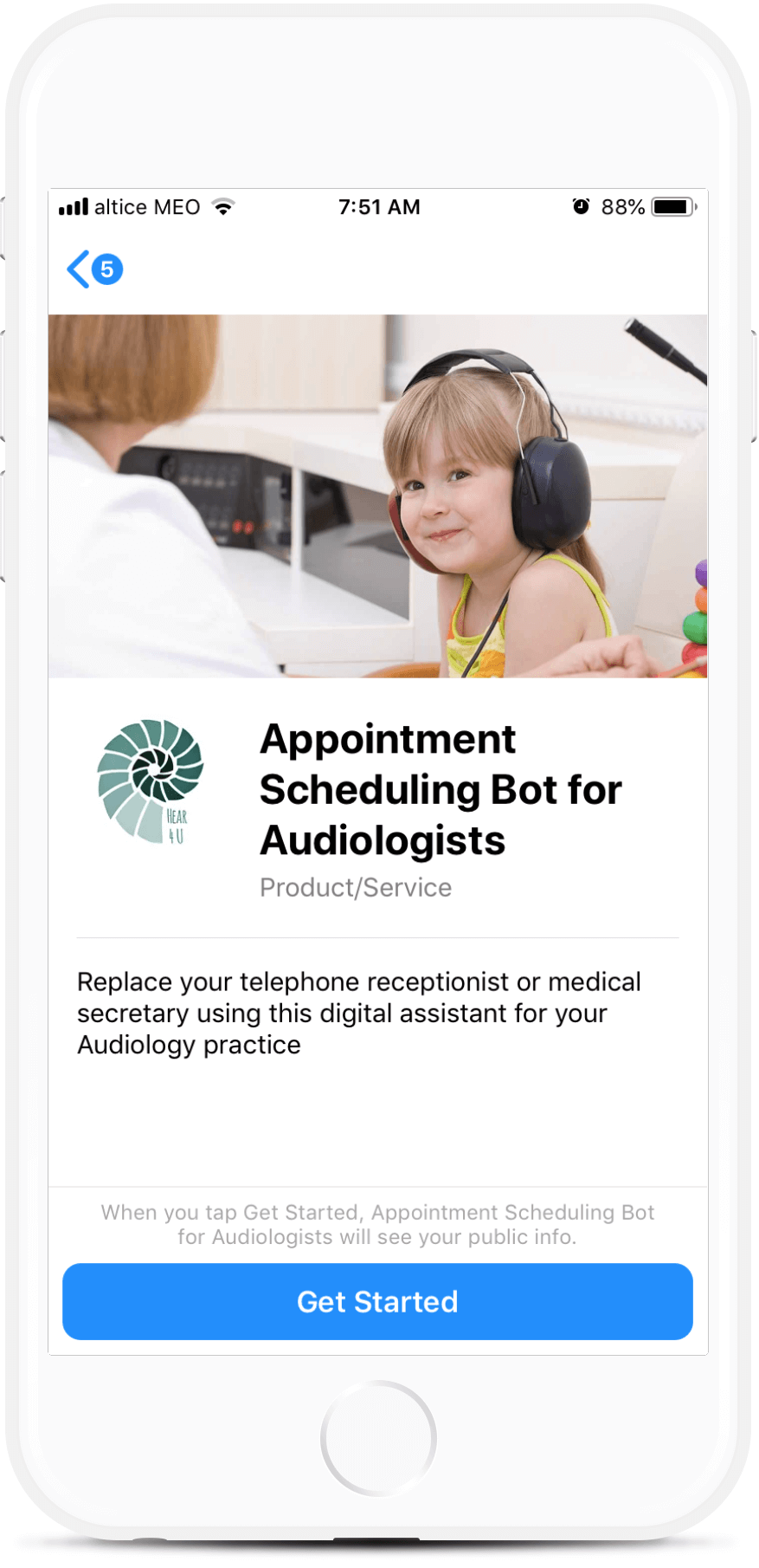 Appointment Scheduling Bot for Audiologists