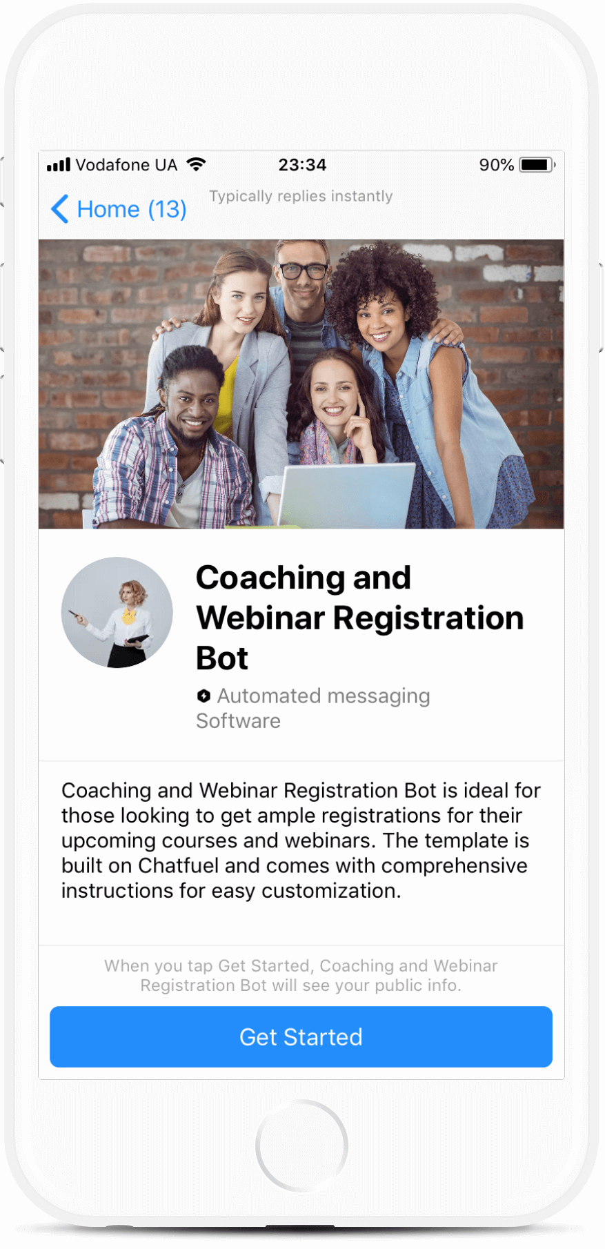 Coaching & Webinar Registration Bot Template