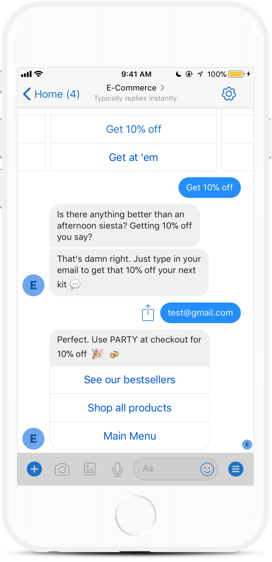 E-Commerce Bot Template for Online Brands for $229   #messenger #bottemplates #bots #chatbots #aibots #fbmessenger #botmakers