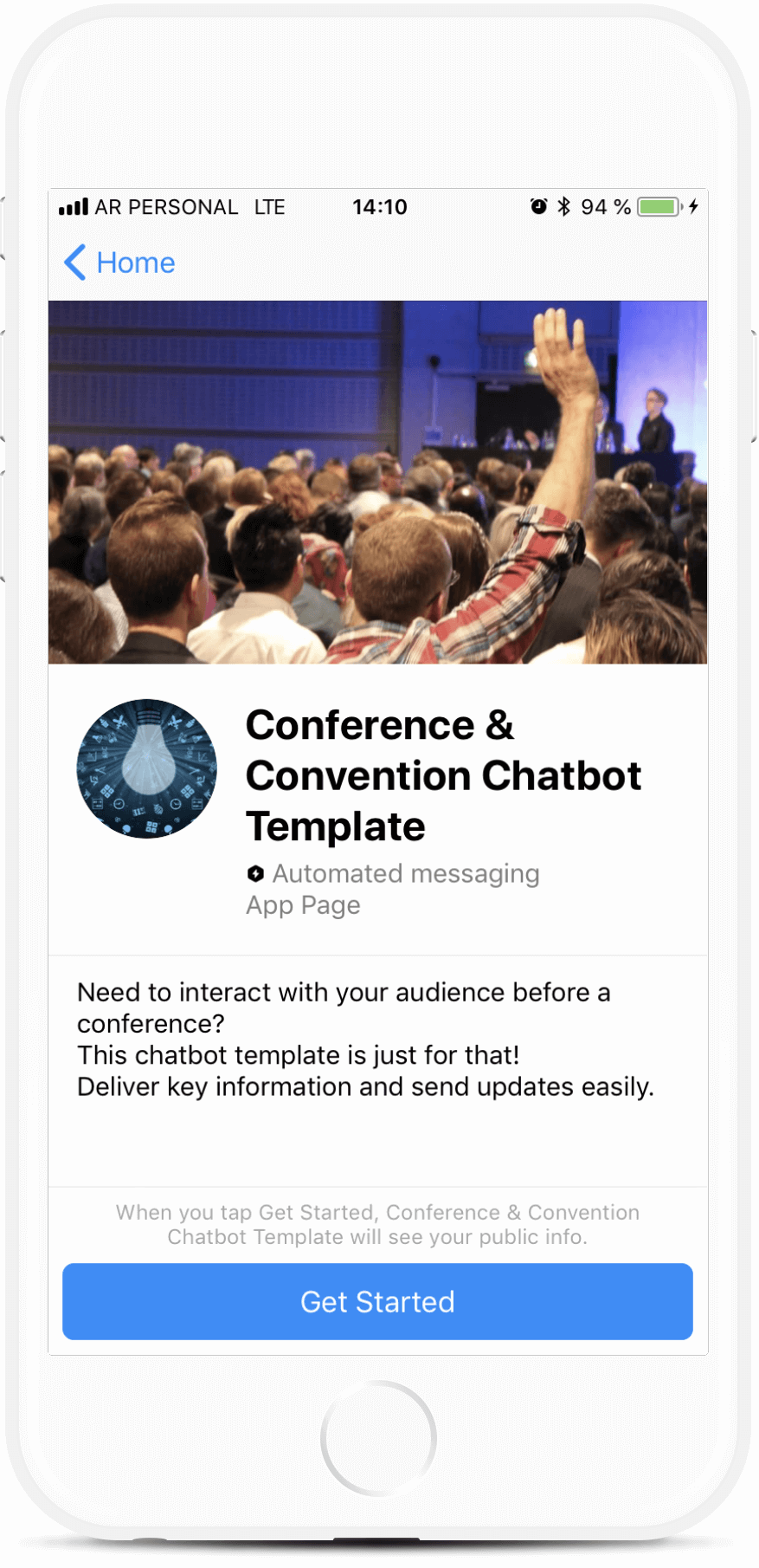 Conference Chatbot Template for Facebook Messenger