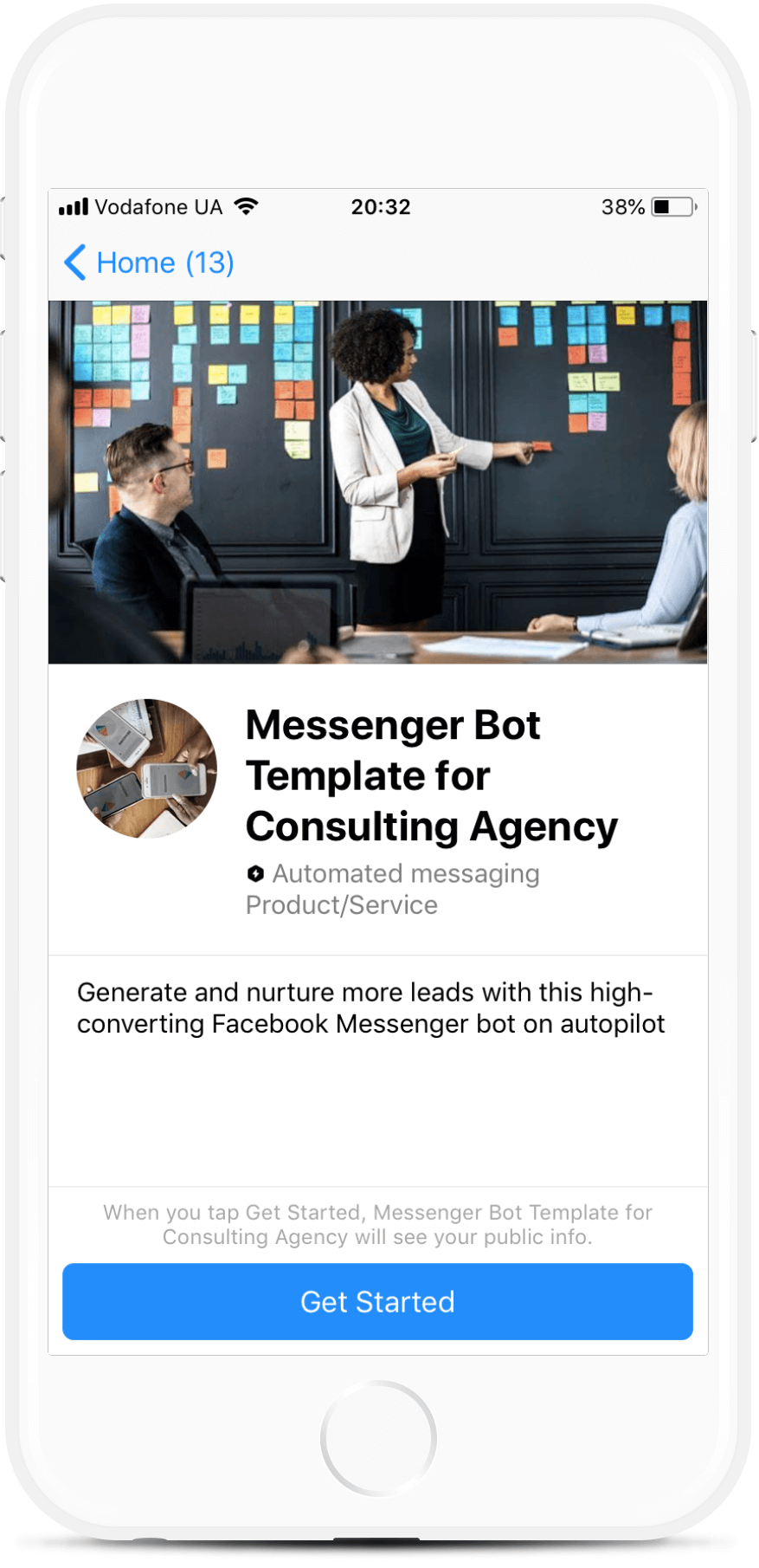Consulting Agency Bot for Messenger (Beta)