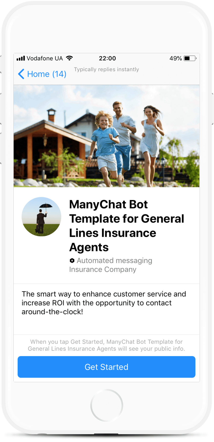 Lead Generation Bot Template for Insurance Brokers