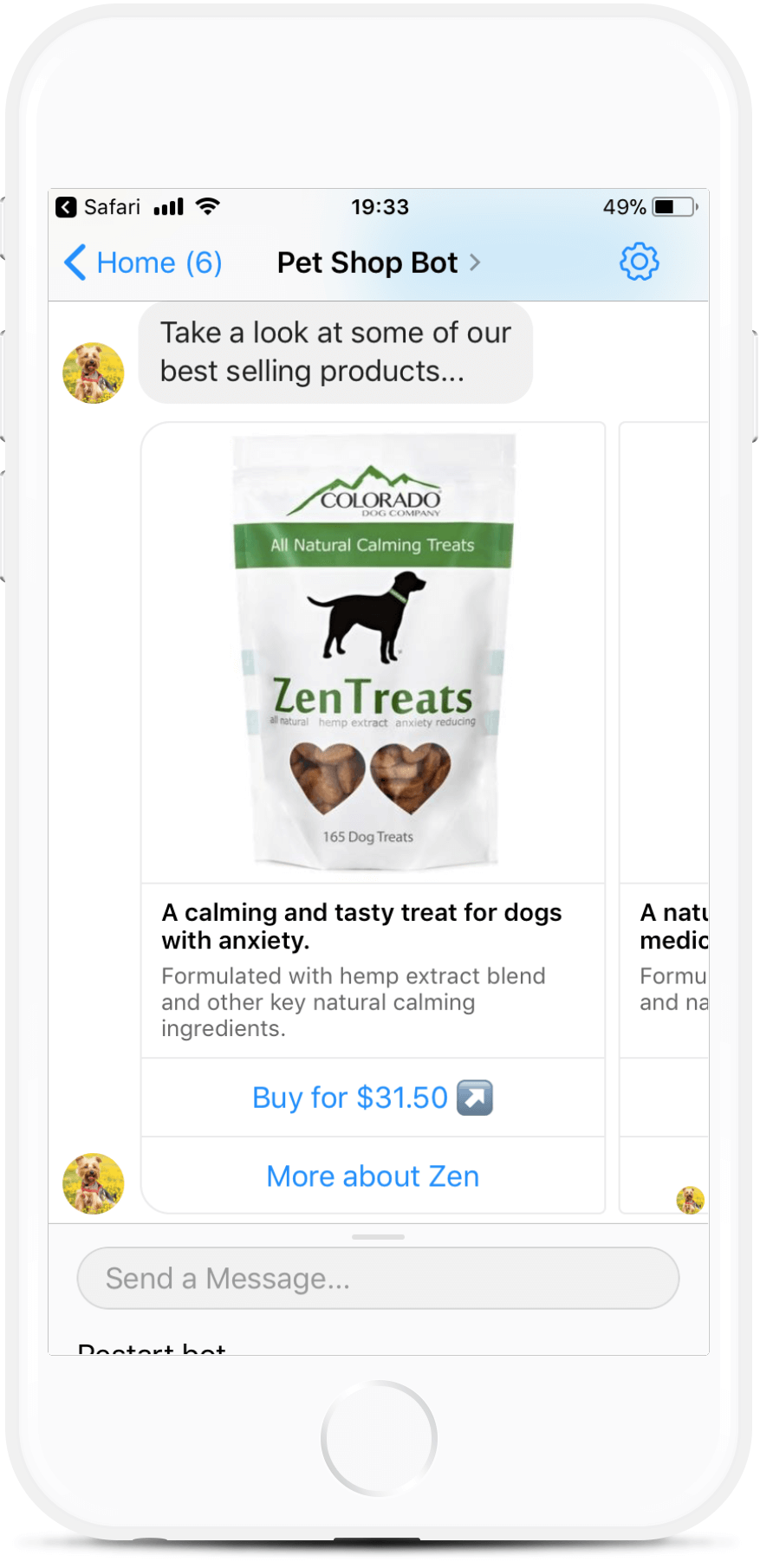 eCommerce Bot Template for Online Pet Stores for $99