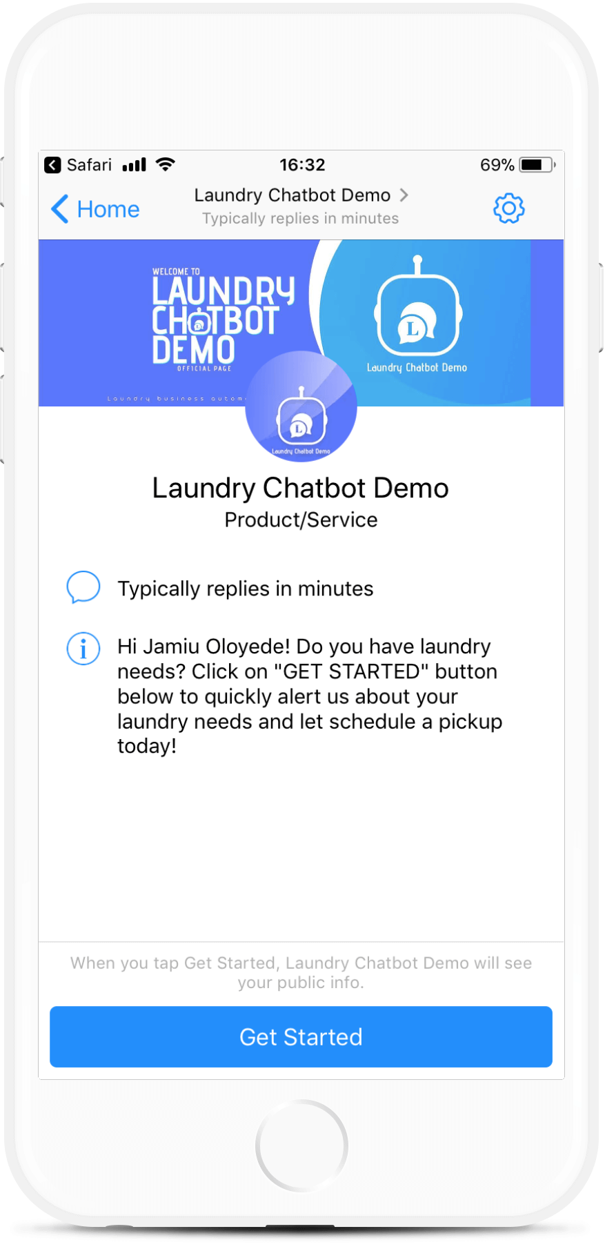 Dry Cleaning & Laundry Chatbot Template