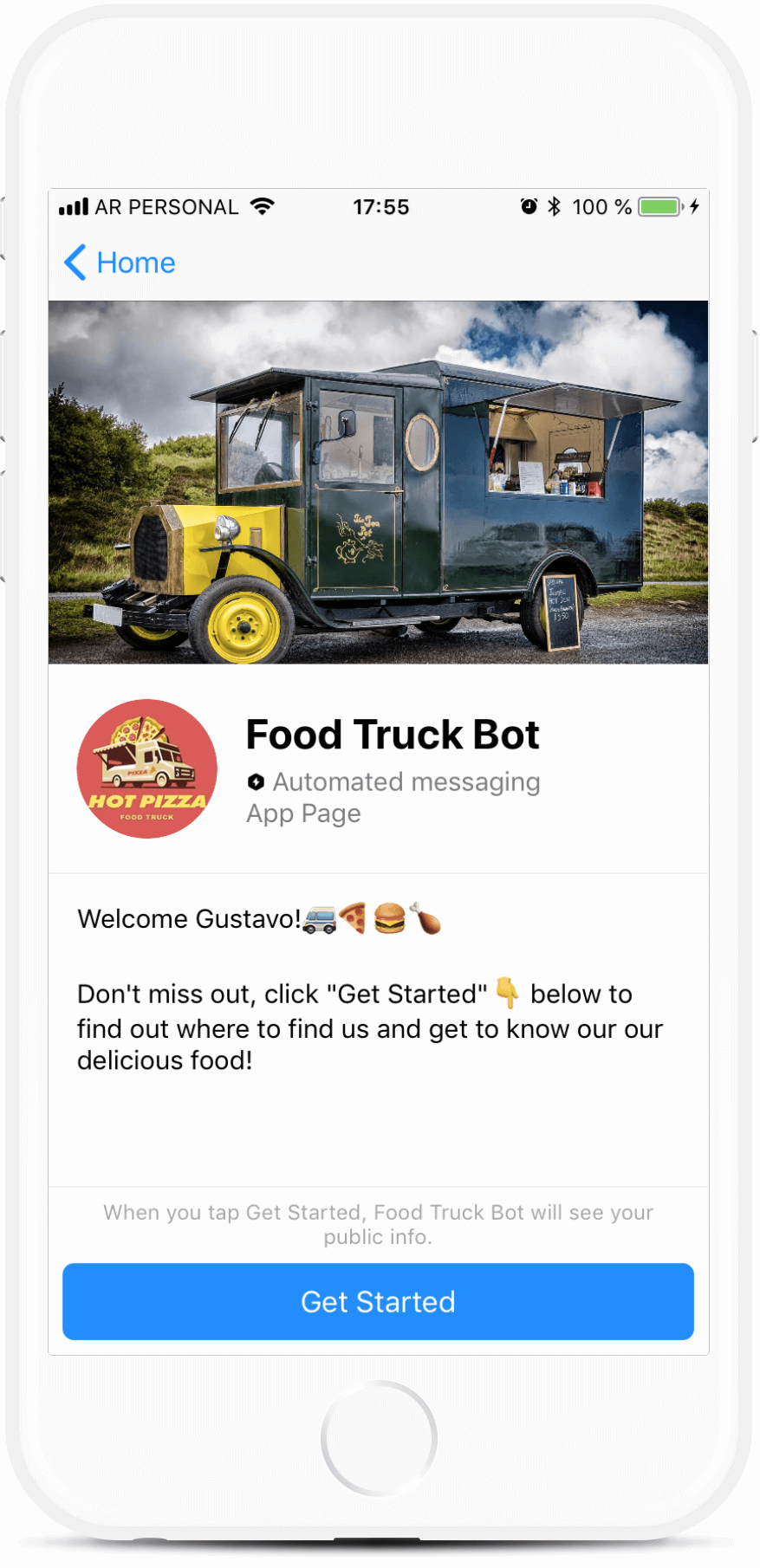 Food Truck Chatbot Template