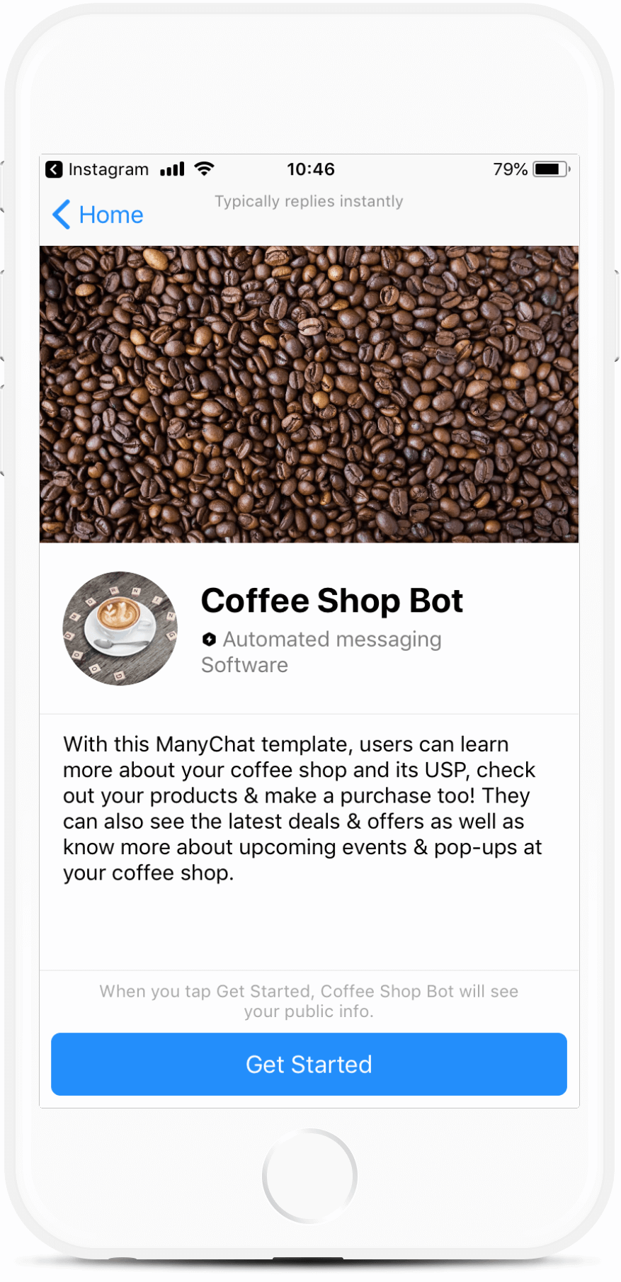 Coffee Shop Chatbot Template