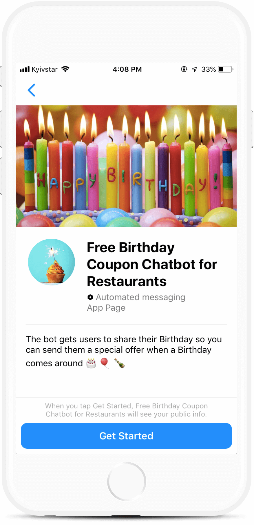 Free Birthday Cake Bot for Restaurants