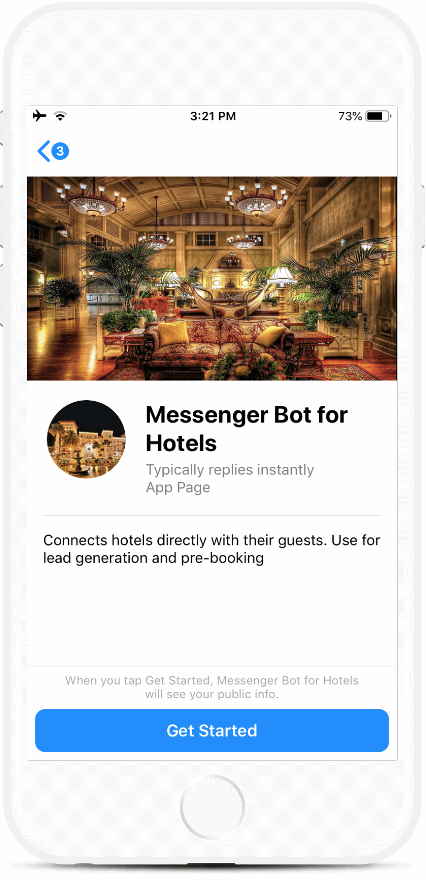 Messenger Bot for Hotels