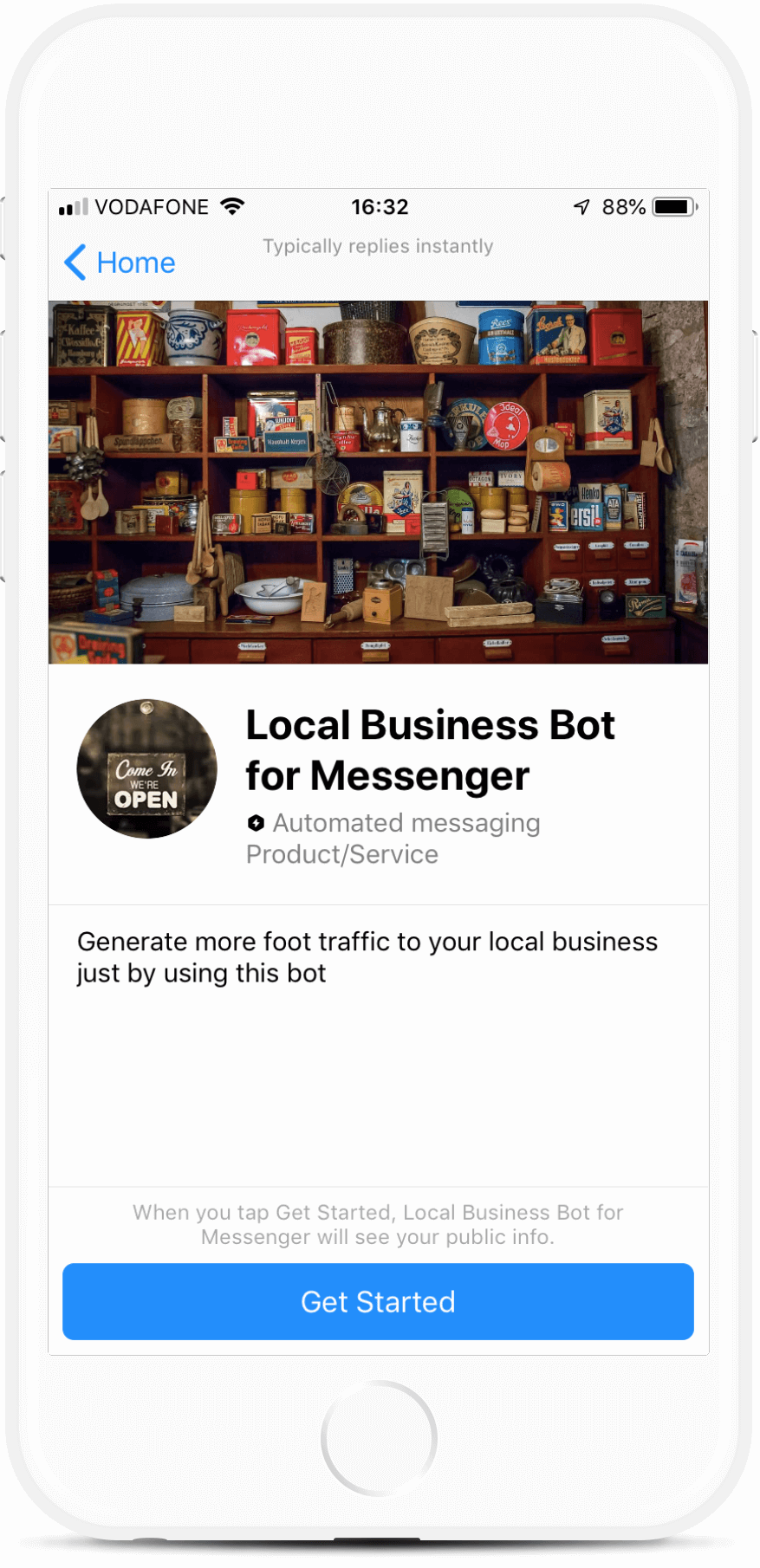Brick and Mortar Messenger Bot for Local Businesses