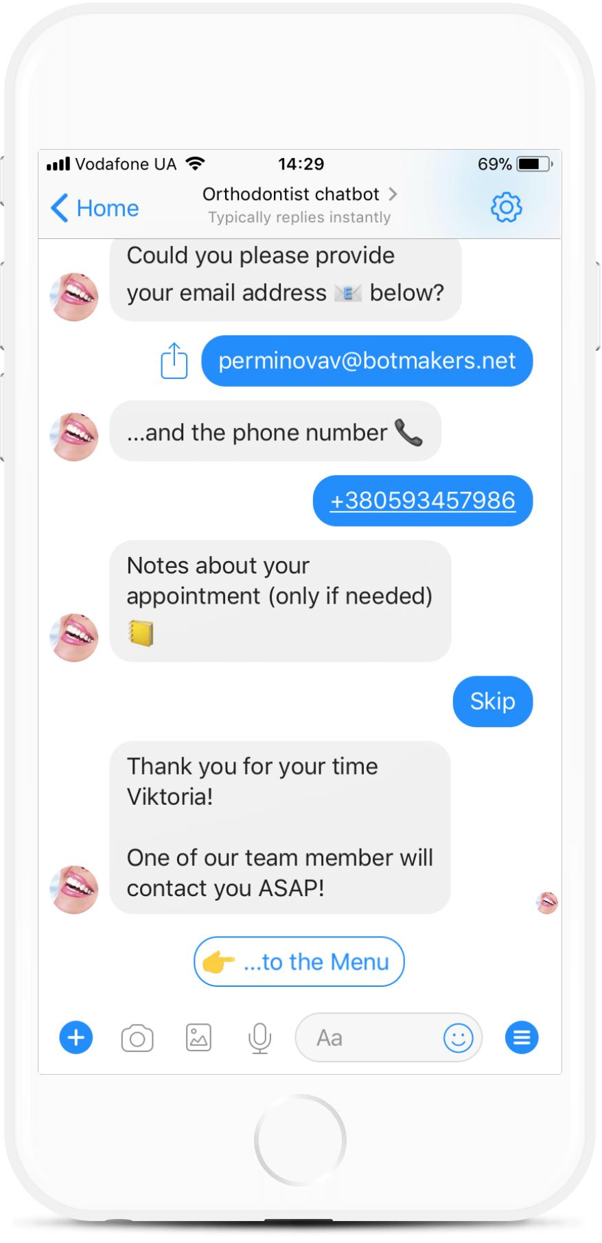 Appointment Messenger Bot Template for Dentists for $69   #messenger #bottemplates #bots #chatbots #aibots #fbmessenger #botmakers