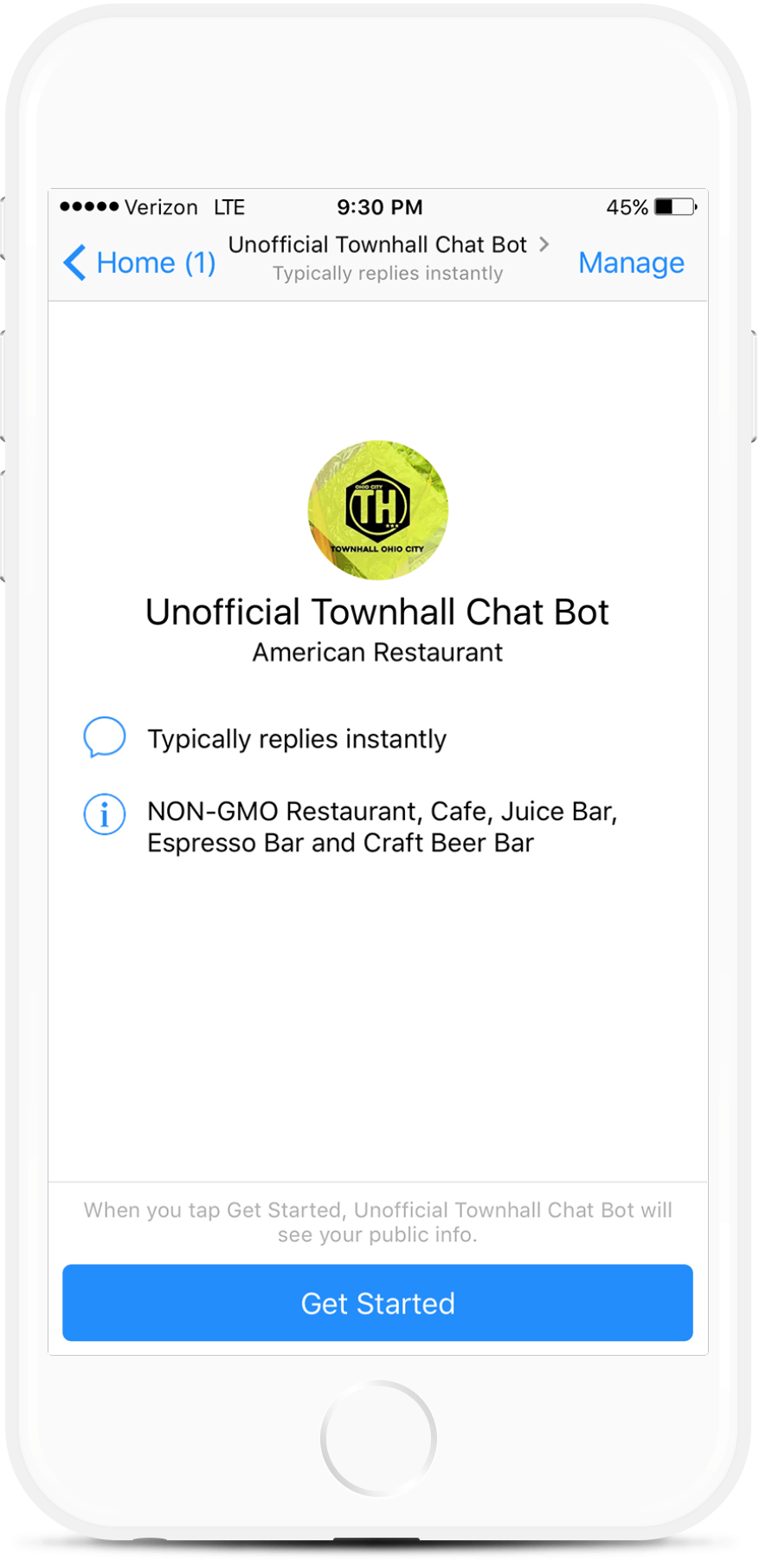 Ordering Assistant Messenger Chatbot For Restaurants