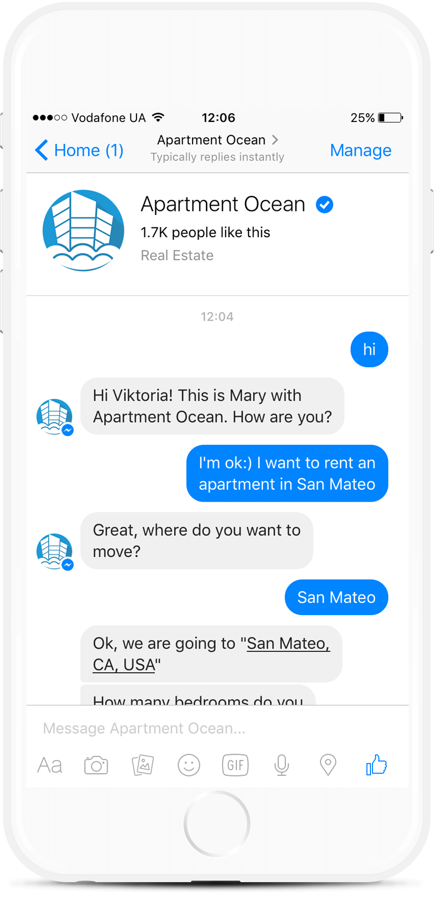 Appointment Facebook Bot for Real Estate Agents