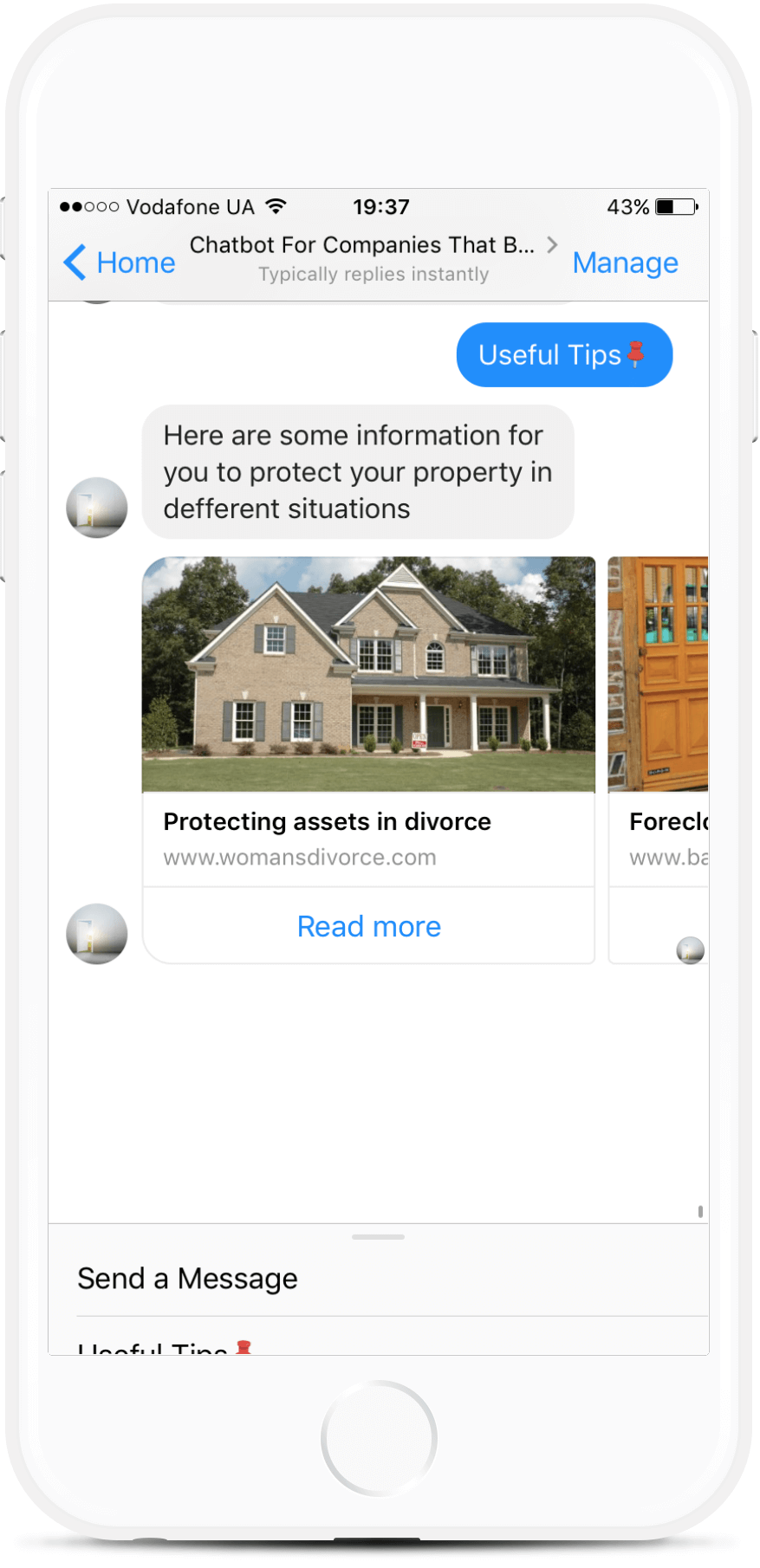 Lead Generation Bot Template For Companies That Buy Houses for $79   #messenger #bottemplates #bots #chatbots #aibots #fbmessenger #botmakers