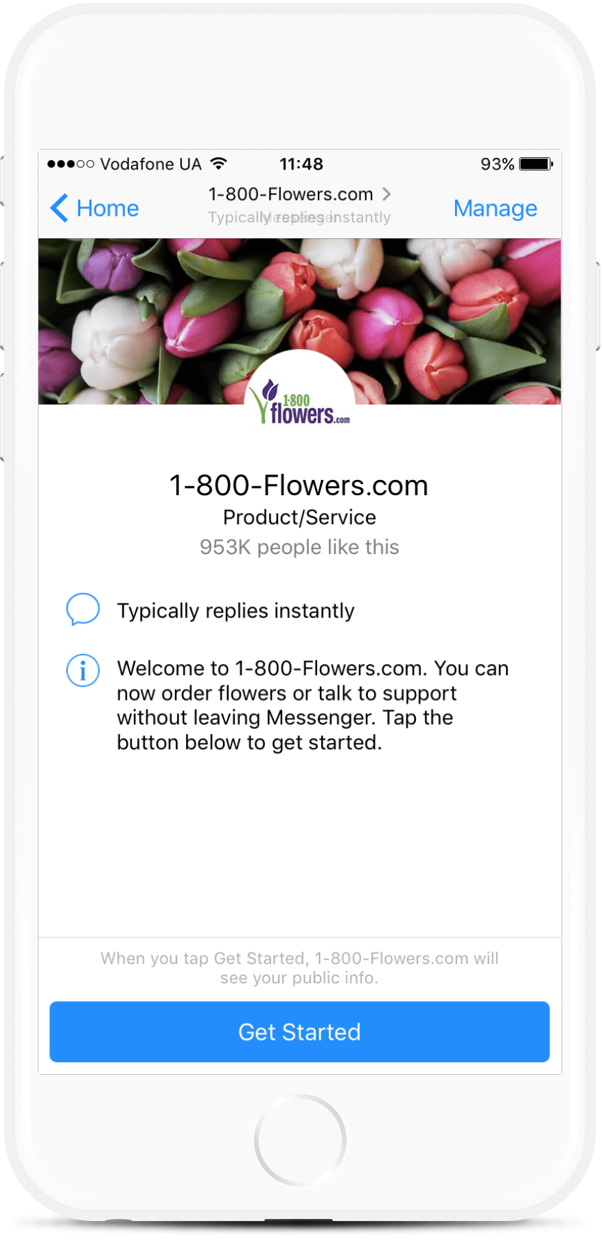 Flowers Delivery Facebook Bot