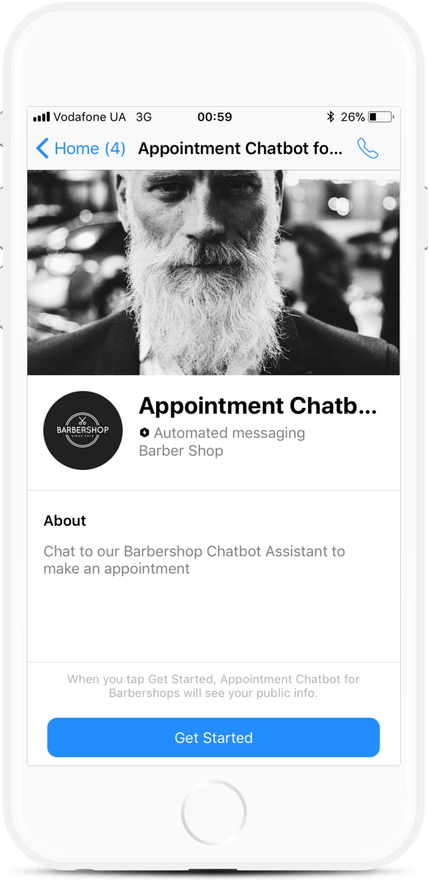 Appointment Chatbot Template for Barbershops