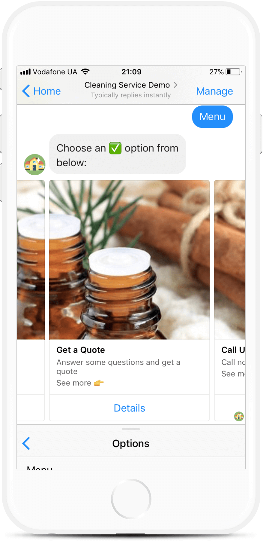 Messenger Chatbot for Cleaning Service for $49   #messenger #bottemplates #bots #chatbots #aibots #fbmessenger #botmakers