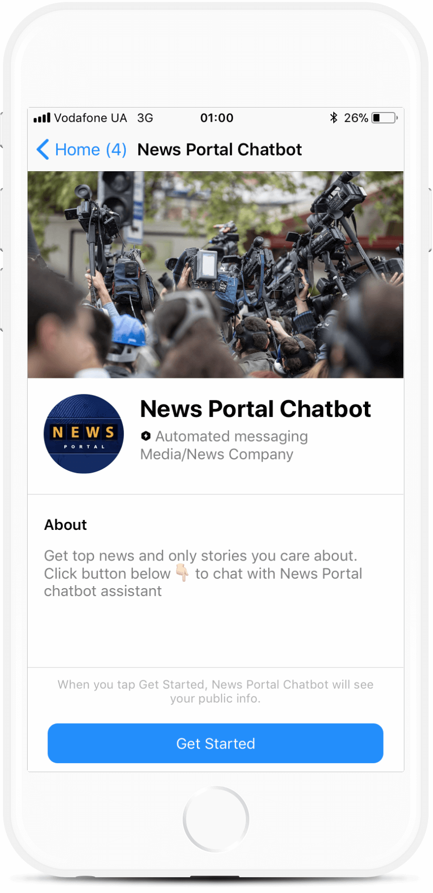News Portal bot screenshot
