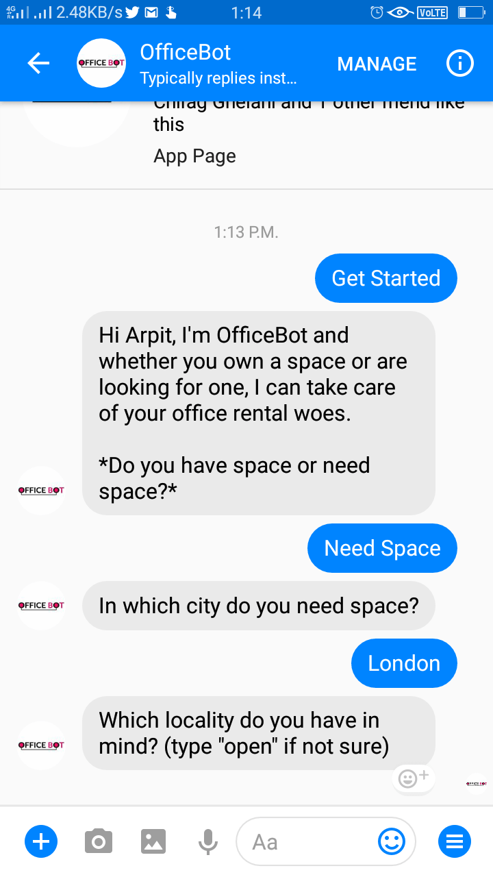 Office Rental Bot Template for Realtors